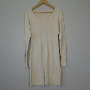 PRANA Knit Jacquard Long Sleeve Dress Sz M